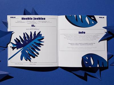 Superpower Booklet lyrics booklet music papercut paper art typography design