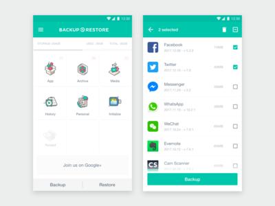 App Backup & Restore 5.0 UI