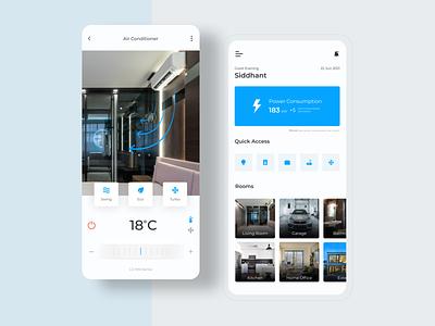 Smart Home App UI design appdesign ux shot dribbble minimal interfacedesign dailyui app uidesign smarthome ui