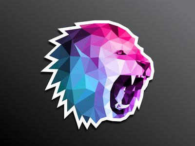 Roaring lion sticker