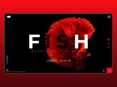 fish_shot shot fishes fishing fisherman landingpage landing ocean fish invesing ui icon ux bitcoin branding logo illustration app minimal design