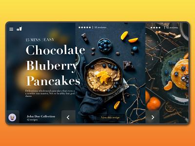 Blueberry_shot webdesign pankakes blueberry food new 2020 best minimalist flat shotgun website design landing design landing shot money website ui ux branding illustration