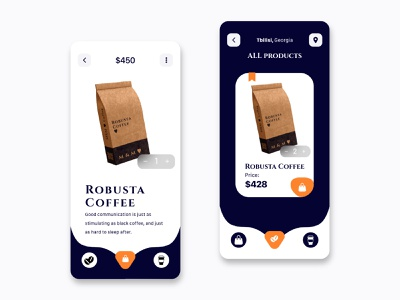 coffee store_app_shot inspire inspiration best shot training dribbble webs invesing animation icon minimal design web ui ux coffee shop ecommerce store app coffee