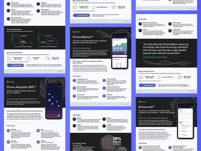 Plume Data Sheet Template System template design content system complex information technology wifi innovation printables sales marketing data sheets
