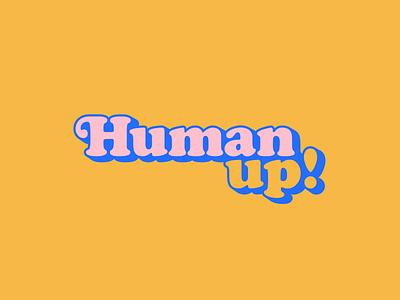 Human up Logo bright colors visual brand logo give back pride lgbtq social justice