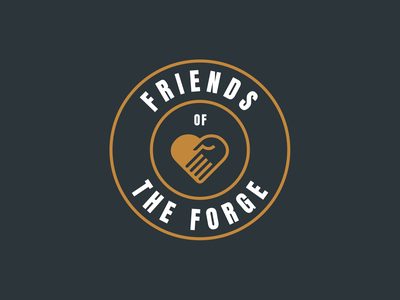 Friends of The Forge Logo adventure park giving back community brand identity logo branding