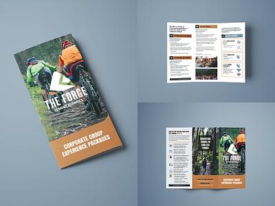 The Forge Corporate Brochure marketing adventure park print design brochure