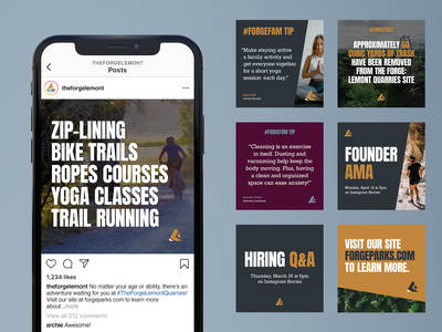 The Forge Social Media Post Template System system social media templates post social media adventure park