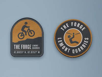 The Forge Patches branding badge swag patches adventure park patch