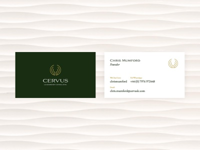 Cervus Branded Assets presentation deck website visual identity brand design stationary business cards logo branding and identity branding