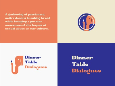 Visual Identity for Dinner Table Dialogues support survivors visual identity non-profit logo community live pono giving back brand identity branding and identity create positivity branding