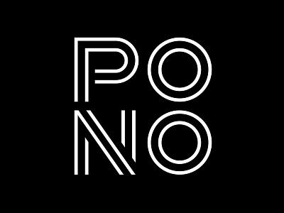 Pono Design Studio Logo create positivity logo design logotype custom font branding and identity branding design studio hawaiian live pono logo