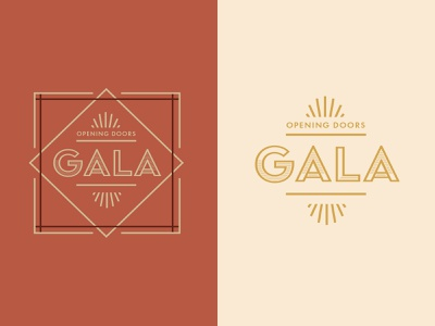 Opening Doors Gala Logo healthcare for all giving back gala free clinic brand identity non-profit logo create positivity community clinic chicago branding and identity branding art deco