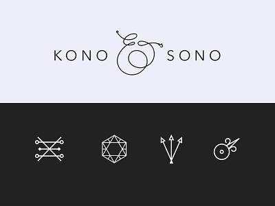 Kono & Sono Visual Identity branding visual identity brand identity logo sono kono alchemy ampersands hand-made japanese jewelry