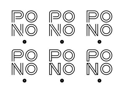 Pono Logo Variations branding branding and identity design studio black and white create positivity live pono visual identity brand identity logo details
