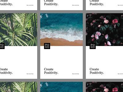 Pono Posters live pono hawaii design studio branding and identity brand identity create positivity logo branding poster design brand design posters