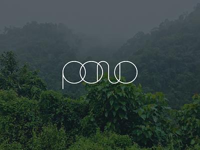 Early Logo Concept for Pono live pono design studio branding and identity brand identity create positivity logo branding