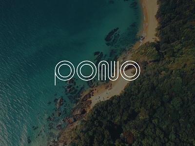 Early Logo Concept for Pono hawaii logos live pono design studio delhi create positivity branding and identity branding concept brand identity