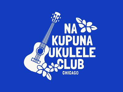 Na Kapuna Ukulele Club of Chicago Logo vector logo elders ukulele aloha spirit hawaii illustration giving back chicago live pono create positivity branding