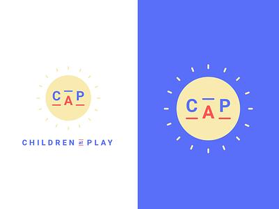 Children At Play [CAP] Logo suite kids giving back community illustration branding and identity live pono brand identity create positivity branding logo childcare daycare