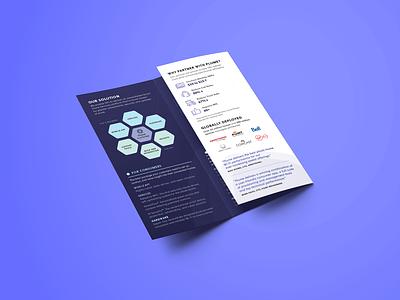 Plume Brochure smart home tech innovation sales enablement marketing materials event materials marketing print tri-fold brochure plume wifi