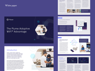 Plume White Paper plume sales enablement custom infographics marketing tech innovation smart home wifi marketing collateral marketing materials white paper