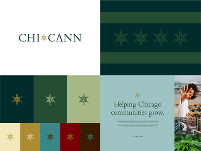 ChiCann Visual Identity cannabis chicago logo mark color palette typography visual identity