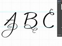 Squiggle Alphabet - WIP 01