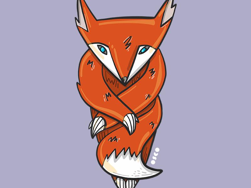Foxy animal vector