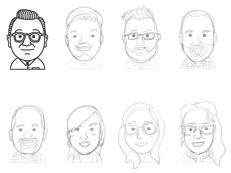 Team Faces vector freelance