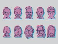 Team Faces - 3D