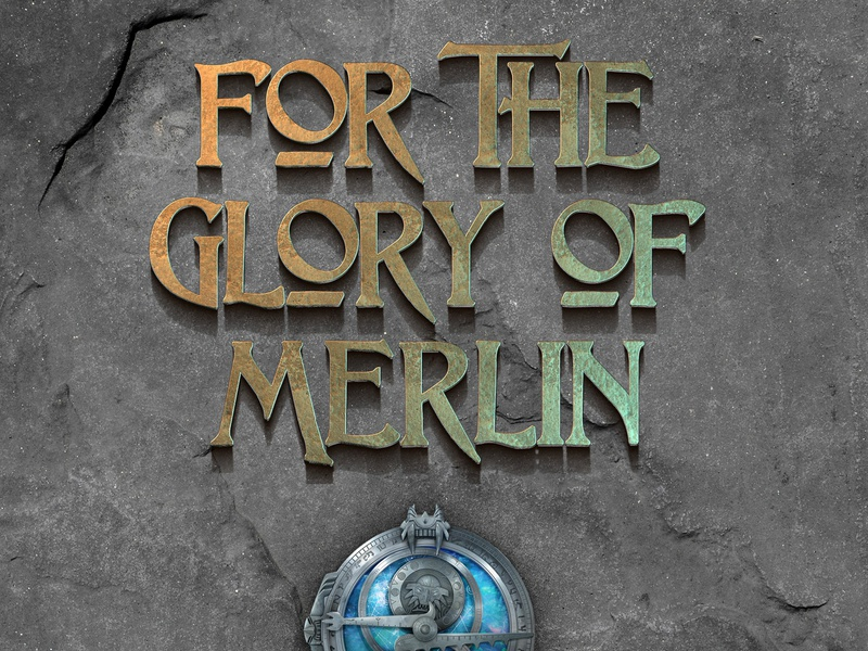 For The Glory Of Merlin trollhunters render letters raster type
