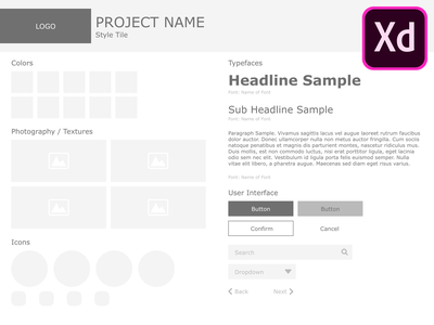 Style Tile Template - Adobe XD resource adobe xd template style tile