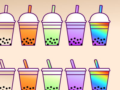 Boba Teas twitch client vector