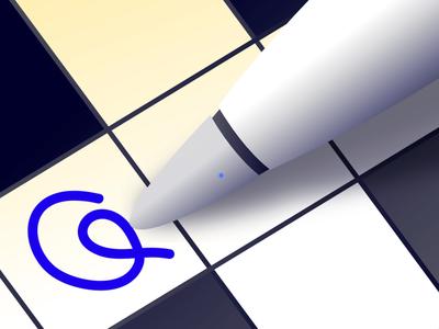 Apple Pencil Vector icon client vector
