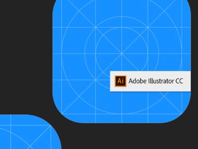 iOS12 Icon Template - Adobe Illustrator icon ios vector template