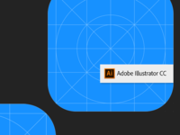 iOS12 Icon Template - Adobe Illustrator