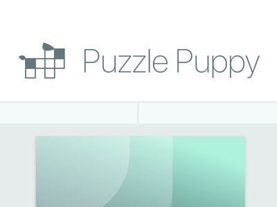 Puzzle Puppy pet adobe xd ui client
