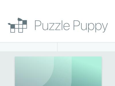 Puzzle Puppy pet adobe xd ui client