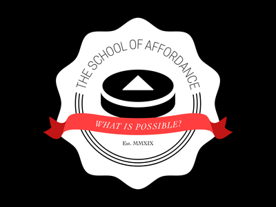 The School of Affordance branding icon type badge vector logo