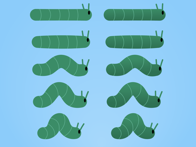 Caterpillar Sprite sprite project vector
