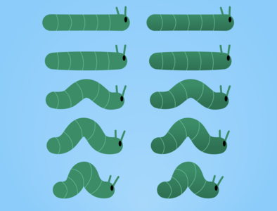 Caterpillar Sprite sprite project vector
