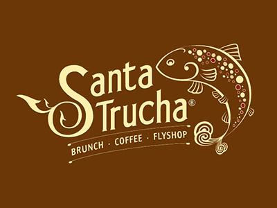 Santatrucha Logo vector typography illustration logo brunch coffee flyshop fish food