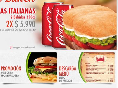 Web El Palaciodelsandwitch food hamburguer lunch restaurant delivery menu website webdesign diseñoweb dieño web