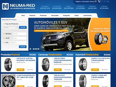 Web Neumared web design webdesign blue tires car jeep mountain wheel