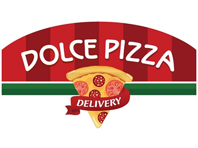 Logo Dolcepizza logo logotype pizza delivery food lunch design