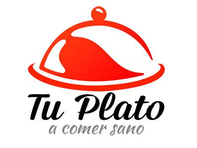 Logotype TU PLATO restaurant delivery food salad hamburger comidas domicilio