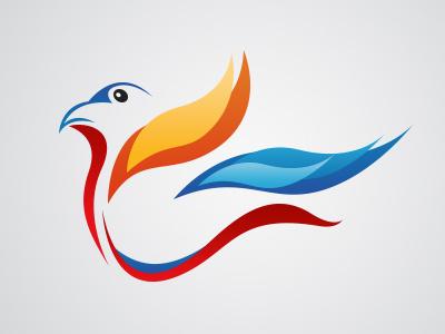 Logo Bird bird logotype logo sketch colors lines free brand illustration photoshop