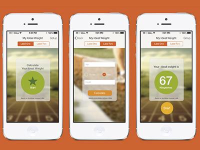 Peso - Weight - Design design ux ui photoshop app apple iphone hot weight