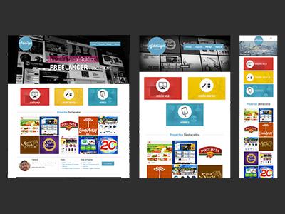 Rfdesign Portfolio - Responsive Design ui ux front end design web web personal portfolio web web design responsive responsive design